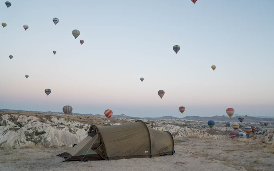 Balloons and stone cities in Cappadocia